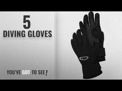 Top 10 Diving Gloves [2018]: TWF 3mm Gloves – Black, Medium