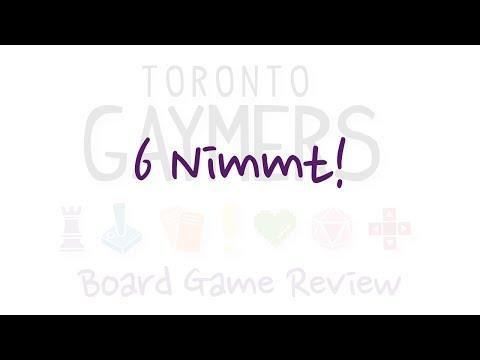 Toronto Gaymers Board Game Review - 6 Nimmt!
