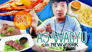 Japanese A5 WAGYU FESTIVAL & SPICY Crab in New York