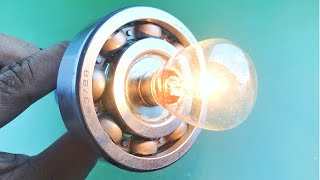 Free Energy Technology Generator for Light Bulbs Using Flywheel , New Electric Science Experiment