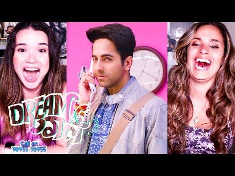 DREAM GIRL | Ayushmann Khurrana | Nushrat Bharucha | Trailer Reaction w/ Achara & Kristen