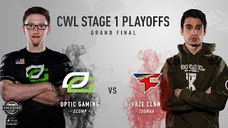 OpTic Gaming Vs. FaZe Clan #2   Grand Finals   CWL Pro League Stage 1 Playoffs 2018