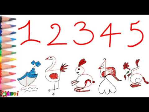 How to draw by number // From numbers to Animal drawing