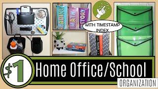 38 DOLLAR STORE ORGANIZATION HACKS   Dollar Tree DIY ⭐NEW⭐ ORGANIZATION IDEAS   HOME OFFICE & SCHOOL