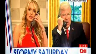 Stormy Daniels Mocking President Trump On Saturday Night Live SNL