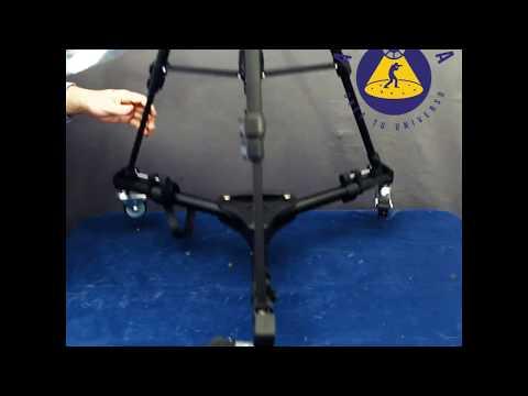 Dolly Weifeng Wt-700 para poner ruedas a cualquier trípode con patas de goma - Apertura.cl