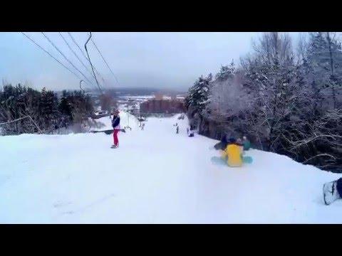Видео: Видео горнолыжного курорта Иня в Новосибирская область