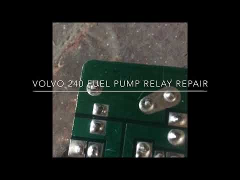 Volvo 240 fuel pump relay repair