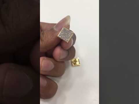 Single Cut Real Diamond Earring in 10K Gold