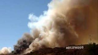 Hollywood Hills On Fire