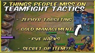 Things People Miss In Teamfight Tactics! ZEPHYR   GOLD TRICKS   PvE HACKS   SECRET OP ITEM   TFT LoL