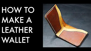How To Make A Leather Wallet - Tutorial And Pattern