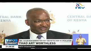 CBK says 7.4M pieces of old KSh 1,000 notes were not returned