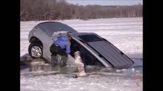Утопили машину на рыбалке