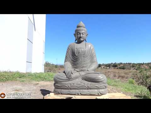 SOLD Stone Garden Earth Touching Buddha Statue 40