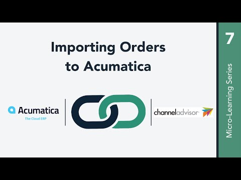 Importing Orders to Acumatica