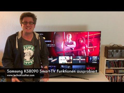 Samsung KS8090 Smart TV Funktionen ausprobiert