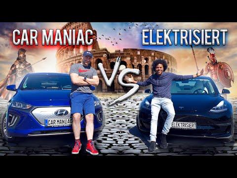 Hyundai Ioniq vs. Tesla Model 3 - Car Maniac vs. Elektrisiert