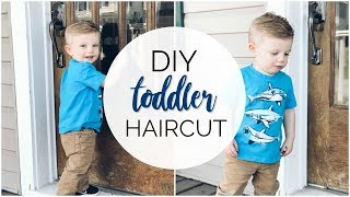 DIY TODDLER HAIRCUT FOR BOYS 2018 | Clipper cut + Comb over | Do your toddlers hair at home!