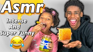 EXTREME FUNNY ASMR!!! HONEY COMB, PICKLES, POP ROCKS & MORE!