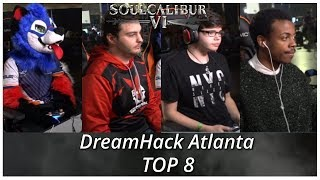 Soul Calibur 6: DreamHack Atlanta 2018 SonicFox, PartyWolf, Saiyne, Dragon (Top 8)
