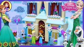 Lego Frozen Fever Arendelle Celebration Castle Disney Princess Build Review Play - Kids Toys