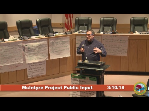 McIntyre Project Public Input Session 3.10.2018 Part 2