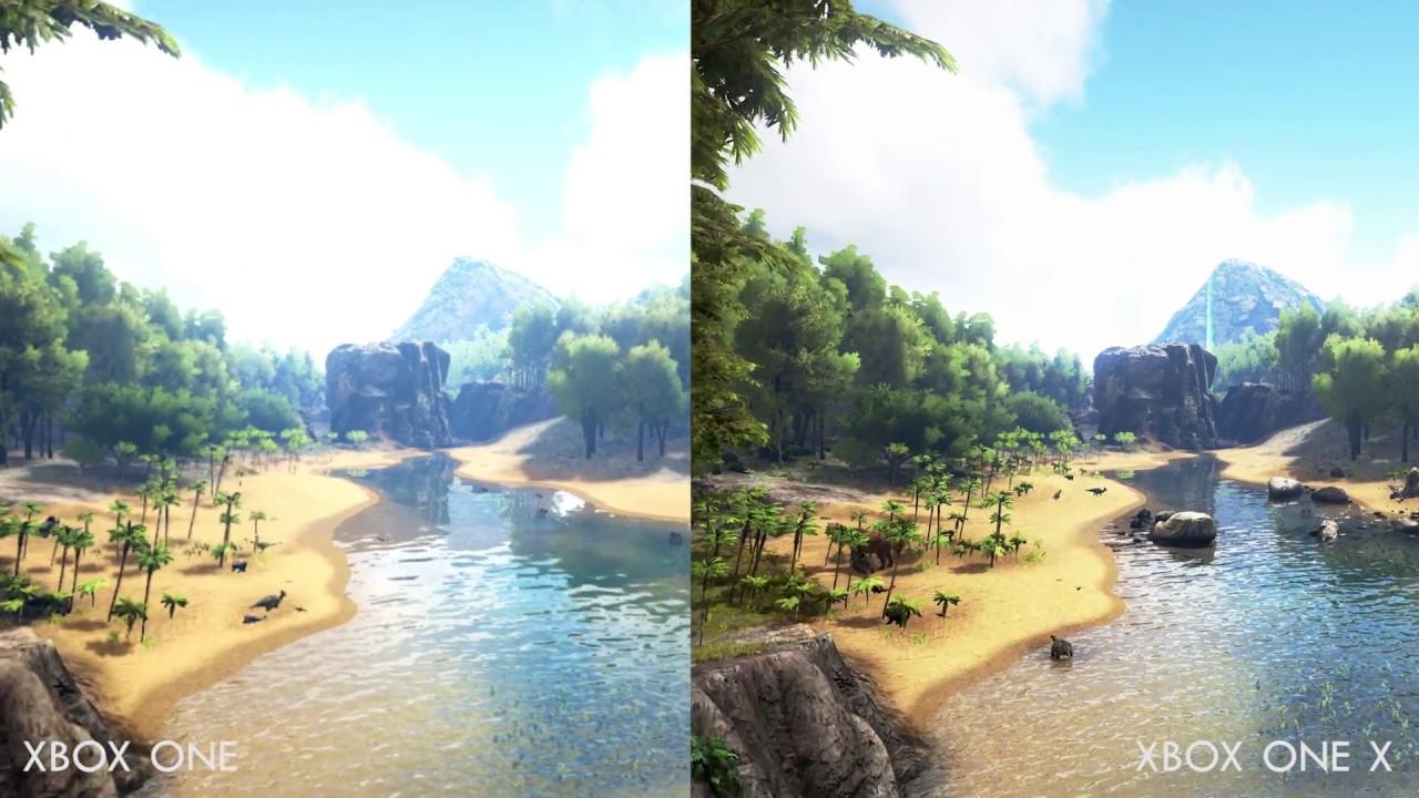 ARK: Survival Evolved - Xbox One vs. Xbox One X - Comparison Footage