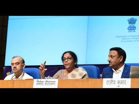 LIVE: Press Conference by Union Finance Minister Nirmala Sitharaman