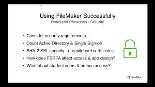 Implement and Educate: Using the FileMaker Platform in Higher Education