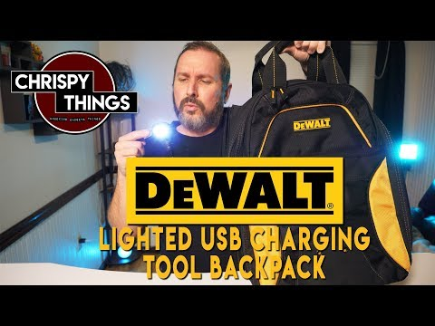 Dewalt Lighted USB Charging Tool Backpack! Will this replace your toolbox?