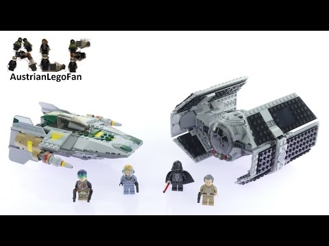 Vidéo LEGO Star Wars 75150 : Le TIE Advanced de Dark Vador contre l'A-wing Fighter