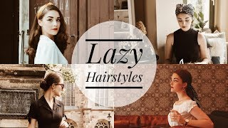4 Easy & Vintage Inspired Hairstyles For Lazy Days | Hair Tutorial