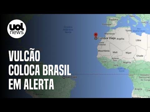 Vulcão capaz de gerar tsunami no Brasil entra em alerta amarelo de erupção