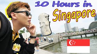 Changi Airport, Merlion & Marina Bay Sand The Shoppes | Singapore First Stop Vlog #1
