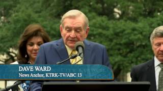 Mayor Turner Presents Dave Ward with Key to the City of Houston