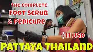 $11 DEAL! Complete FOOT SCRUB & PEDICURE 🇹🇭 Pattaya Thailand.
