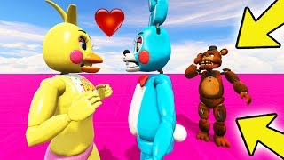 WITHERED FREDDY FINDS OUT THAT CHICA LIKES BONNIE?! (GTA 5 Mods For Kids FNAF Funny Moments)