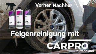 Felgenreinigung mit CarPro IronX MultiX und IronX Snow Soap DIY Anleitung Detailing Autopflege