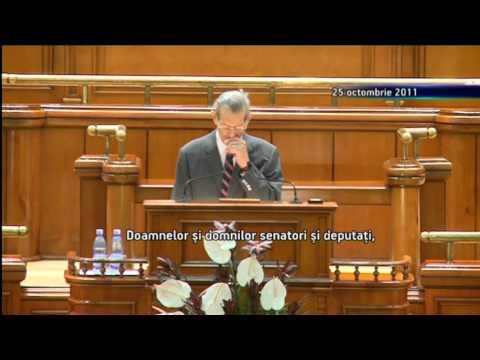 Discursul regelui Mihai în Parlamentul României (25 octombrie 2011)