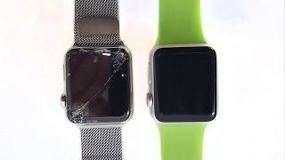 Sapphire Crystal vs Ion-X Apple Watch: Slow Mo Drop Test