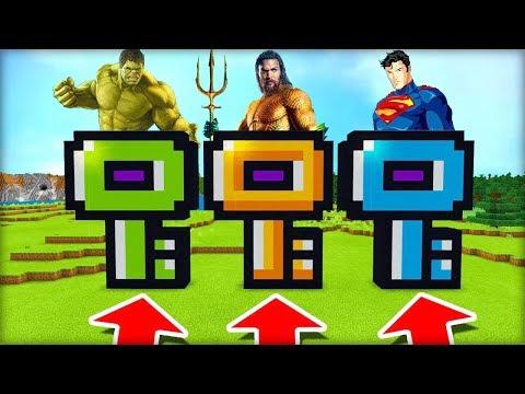 NEVYBER SI ŠPATNÝ KLÍČ V MINECRAFTU! (Hulk, Aquaman, Superman)