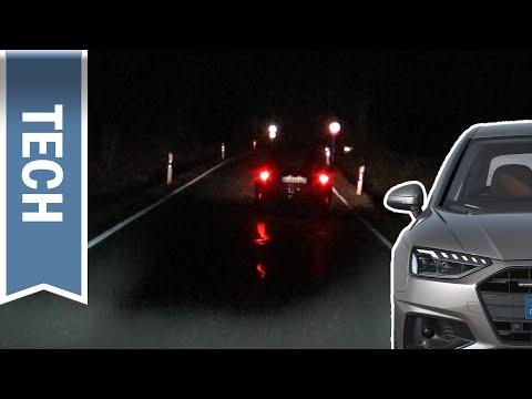 Matrix LED-Scheinwerfer im Audi A4 (B9, 2020) im Test: Nachtfahrt & Vergleich Laserlicht