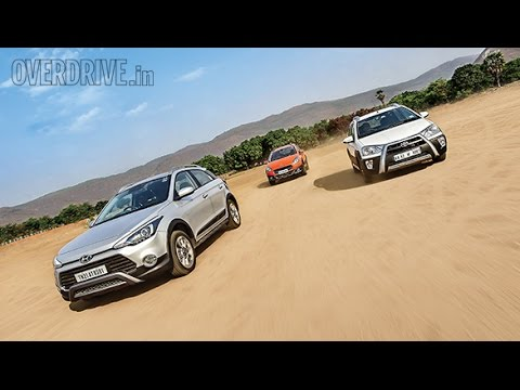 Fiat Avventura vs Hyundai i20 Active vs Toyota Etios Cross comparison review by OVERDRIVE