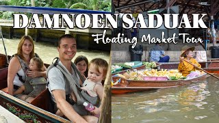 Damnoen Saduak Floating Market Tour | Thai Street Food On A Boat! | Things to Do in Thailand