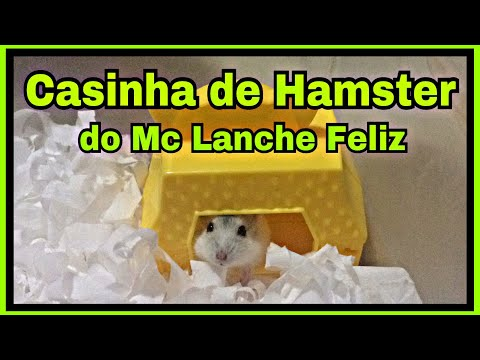 Casinha para hamster no Mc Lanche Feliz