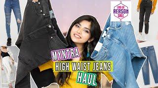 Huge Myntra High Waist JEANS Haul| Myntra EORS Sale