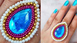 #DIY finger ring / Easy finger ring making/ How to make Finger ring / Jewellery making at home/