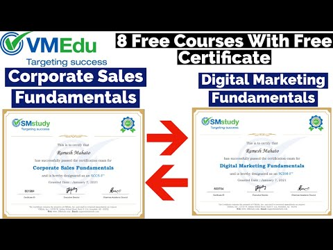 VMEdu 8 Free Courses With Free Certificate | Digital Marketing ...