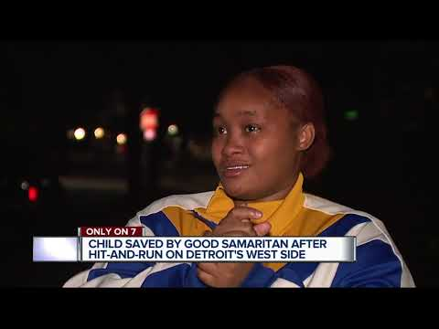 Child saved by good Samaritan after hit-and-run on Detroit's west side